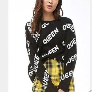 """Unique, oversized """"QUEEN"""" sweater"""